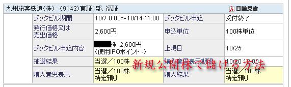 JR九州SBI証券当選