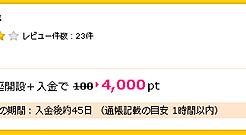 ハピタス4000円分